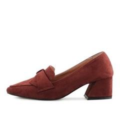 kami et muse 5.5cm middle heel suede ribbon pumps_KM18w124