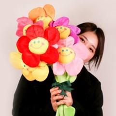 SNS대란 갓샵 스마일꽃인형 장미 플라워 봉제 꽃인형