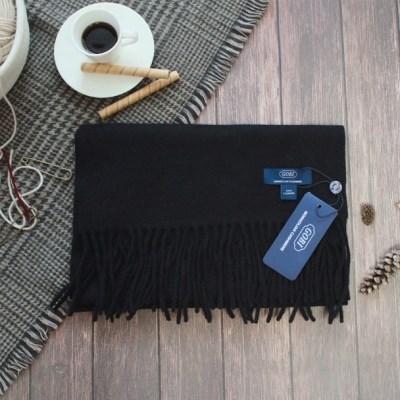 [GOBI]고비 캐시미어 머플러 160x30cm 블랙 (캐시미어 100%)