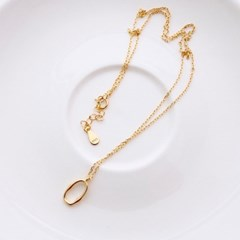 (92.5 silver) gold oval necklace