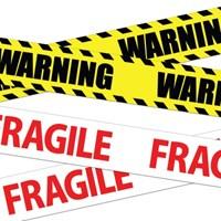 WARNING-FRAGILE 테이프