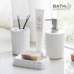 바스클립 친환경 플라스틱 라탄 욕실용기세트