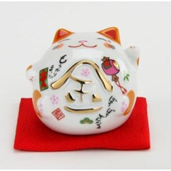 마네키네코 원형 고양이 저금통(돈/음웃/복)3종