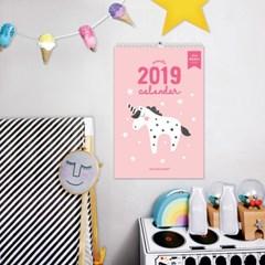 [퍼니즈] 2019 북유럽 유니콘 캘린더 / 벽걸이 달력