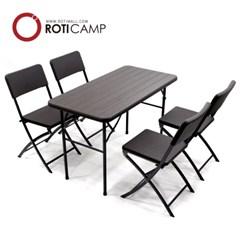 접이식 브로몰딩 테이블 1200 우드 4인용 야외 식탁 캠핑 행사