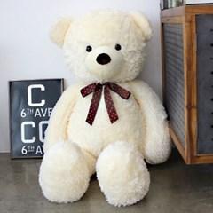 이젠돌스 핑크 도트리본 환희베어 대형 곰인형 110CM_(980101)