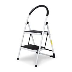 접이식 사다리 계단형 2단 3단 4단 (화이트)  하중150kg