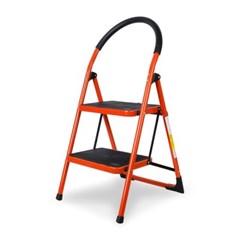 접이식 사다리 계단형 2단 3단 4단 (레드)  하중150kg