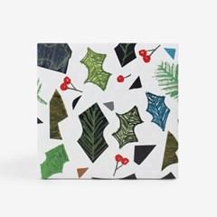 성탄조각잎 포장지(3개)