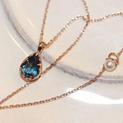 natural london blue topaz necklace
