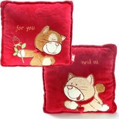 독일 니키 정사각쿠션 고양이(레드캣&레드톰캣)