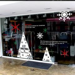 제제데코 크리스마스 눈꽃 스티커 장식 CMS4J028_(837114)