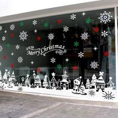 제제데코 크리스마스 눈꽃 스티커 장식 CMS4J025_(837111)