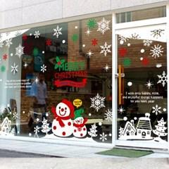 제제데코 크리스마스 눈꽃 스티커 장식 CMS4J021_(837107)