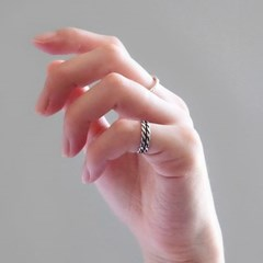(92.5 silver) antique little ring