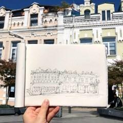 [텐텐클래스] (잠실) 여행 스케치,  펜으로 컨투어 드로잉