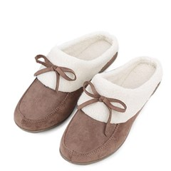 kami et muse Non slip outsole ribbon fur slippers_KM18w160