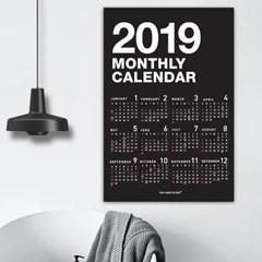 [퍼니즈] 2019 포스터형 모노달력 / 포스터 캘린더