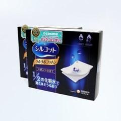 일본 정품 시루콧토 우루우루 화장솜 40매