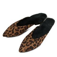 kami et muse black rabbit fur slippers_KM18w167