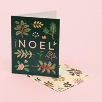 HOLIDAY PLANTS NOEL CARD - DEEP GREEN