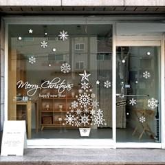 제제데코 크리스마스 눈꽃 스티커 장식 CMS4J186_(847551)