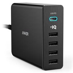 앤커 ANKER 파워포트+5포트 USB-C USB 충전기 화이트(A2053Q21)