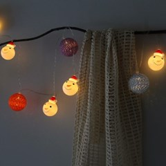 코튼볼&눈사람 LED 전구(10구)