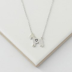 [Silhouette] Schnauzer necklace