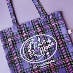 PURPLE CHECK BAG