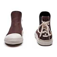 [디바이디그낙] Back Lace-Up Ankle Boots BR