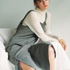 [로지에] 18fw rosier check sleeveless dress check