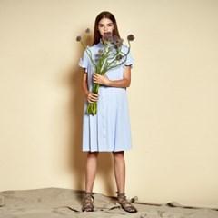 [더케이스토리] Ruffle Pleats Dress_ Light Blue