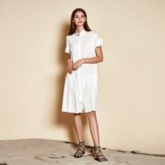 [더케이스토리] Ruffle Pleats Dress_ Off White