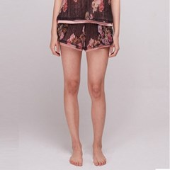 [더센토르] Flower Layered Short Pants [BLACK]