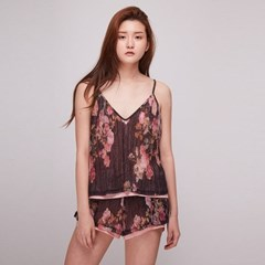 [더센토르] Flower Layered Camisole [BLACK]