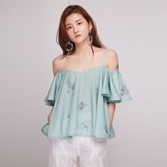 [더센토르] Forget Me Not Off Shoulder Blouse [MIN