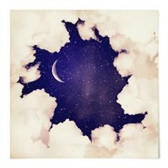 패브릭 포스터 S011 달 구름 액자 Vintage moon sky1