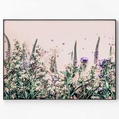 메탈 식물 꽃 풍경 인테리어 포스터 액자 들꽃