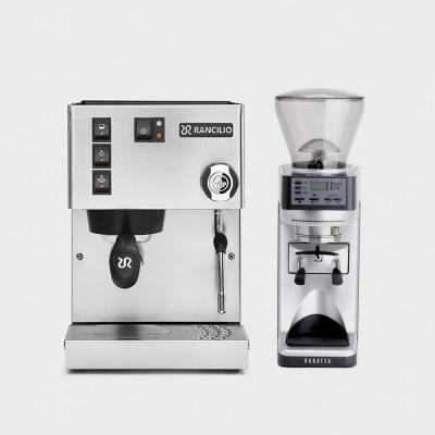 란실리오 실비아 커피머신+바라짜 세테 270 그라인더 세트