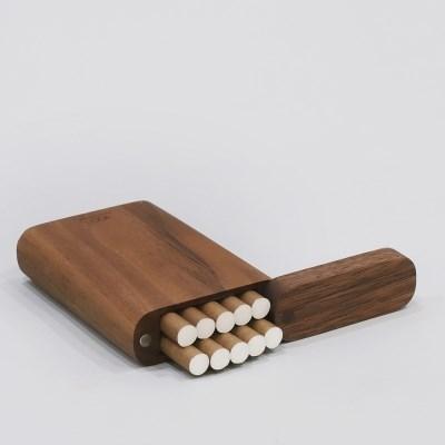 호두나무 담배 케이스(10개 수납)
