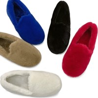 kami et muse Soft and warm color fur shose flat_KM18w187