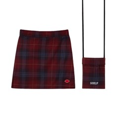 SEANLIP Check skirt bag set / 체크 스커트 백 레드