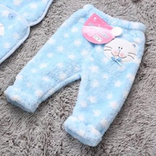 유아 국내생산 극세사 고양이 바지 mlg3088
