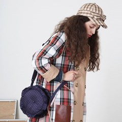 PFS PADDING CIRCLE BAG - NAVY CHECK_(759146)