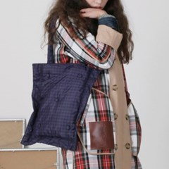 PFS PADDING SHOULDER BAG - NAVY CHECK_(759151)