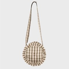 PFS PADDING CIRCLE BAG - BEIGE CHECK_(759148)
