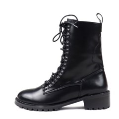 kami et muse 2 type middle heel lace up walker boots _KM18w189