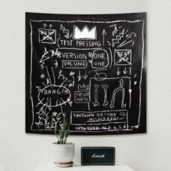태피스트리 벽장식 패브릭 포스터 - 크라운 (110x110cm)