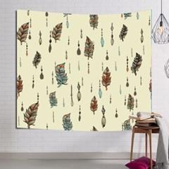 태피스트리 벽장식 패브릭 포스터 - 인디언 깃털 (150x130cm)